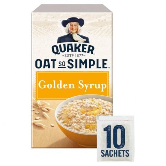 Quaker Oat So Simple Golden Syrup Porridge 10 Sachets